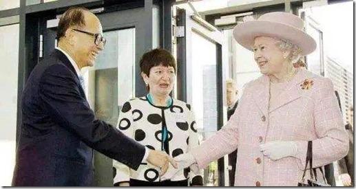 李嘉诚拜见英国女王
